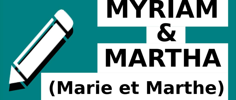 Myriam et Marha